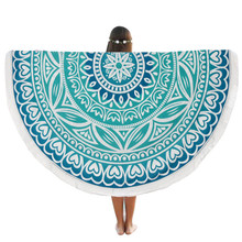 High Quality Round Beach Pool Home Shower Towel Blanket blue table cloth round wedding Yoga Mat drop shipping #XTT