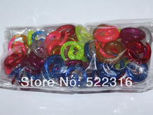 free shipping body piercing uv acrylic glitter spiral ear tapers ear plugs stretcher ear kits(China)