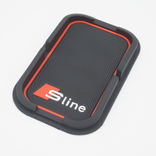 Sline Car Mobile Phone Holder S line Anti-Slip Mat Pad Car Accessories For AUDI A4 B6 C5 A3 A5 B8 Q5 A6 C6 B7 Q7 B5 Car-styling