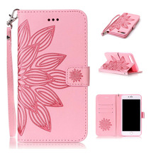 Phone Case For iphone 5S SE 6 6S 7 Plus Luxury Pink Leather Wallet Style Flip Case Cover For Huawei P8 P9 Lite Y5 ii Y6 ii(China)