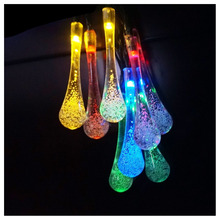 JFBL Hot Long Droplets Solar LED String Lights with Garden Solar Panel for All Outdoor and Indoor Activities Decoration