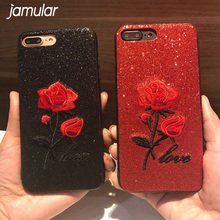 Buy JAMULAR iphone 6 case Glitter Flower iphone 7 Soft TPU 3D Phone Cases iphone X 10 6s 6 7 8 Plus Cover Capa Capinhas Capa for $2.88 in AliExpress store