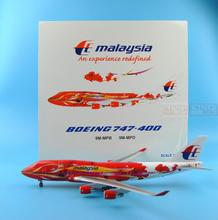 Offer: BBOX Malaysia Special Airlines B747-400 Hibiscus 1:200 commercial jetliners plane model hobby(China)