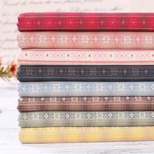 27 Double Jacquard Yarn Dyed Plaid Fabric Handmade Diy Professional Quilting Cotton Patchwork 50cm long