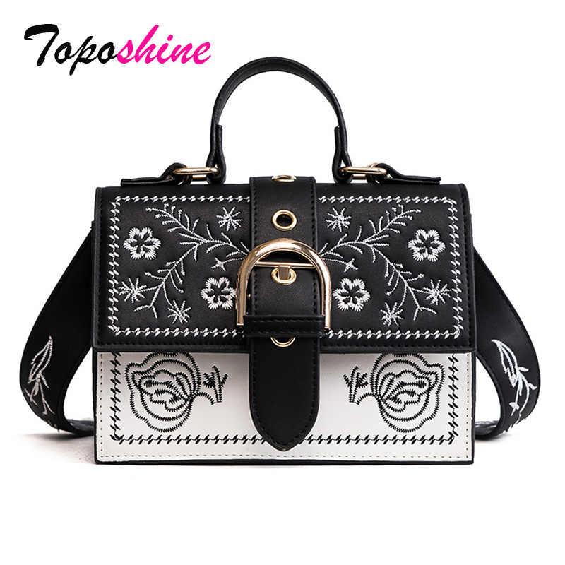 Подробнее Обратная связь Вопросы о Toposhine Модная женская сумка со  вставками, винтажные сумки для девочек, черные женские сумки мессенджеры из  ... c928ef6eeba