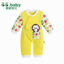 Newborn Boy Christmas Baby Rompers Cute Monkey Polo Baby Winter Boy Jumpsuits Clothes Infant Outfits Baby Girl Overalls Costumes