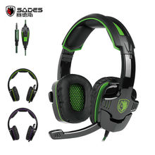 SADES SA930 3.5mm Gaming Headphones Computer Headset with Mic Noise Cancelling for Mac Xbox One Cell Phone PS4 Tablet Green(China)