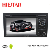 Car Radio DVD Player GPS navigator 1024 Touch Screen 8 core Android 7.1/6.0 market Wifi mirror link BT For Audi A4 2002-2008(Hong Kong)