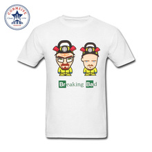 2017 Fashion New Gift Tee Breaking Bad Heisenberg Printed I Am The One Who Cotton T Shirt for men(China)