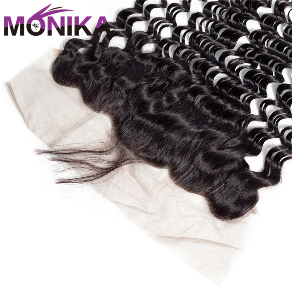 Brazilian Deep Wave 134 Lace Frontal Ear to Ear Closure FreeMiddleThree Part Frontal with Baby Hair Monika 100% Human Hair (3)