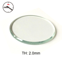 Wholesale 6pcs/lot 30mm to 32.5 mm Assort size Watch Glass Crystal 2mm thickness Flat Watch Glass(China)