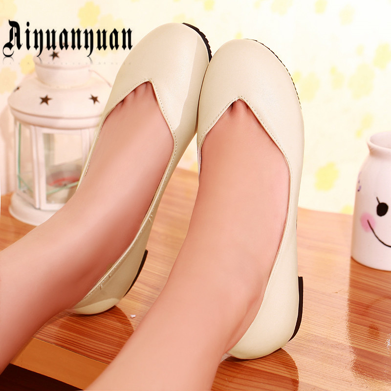 2017 new plus size 40 41 42 43 44 45 46 47 ladies flats concise style women shoes slip-on design high quality PU free shipping<br><br>Aliexpress