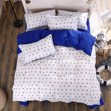 UNIKEA 2016 New Cotton Bedding Sets Soccer Anchor Navy Style Livable Wind Bed Sheets Quilt Cover Pillowcase King Queen Full Twin