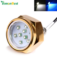 Waterproof 12V-24V 27W Boat Drain Plug Light 9 LED Boat Light Underwater Boat Lamp NPT Threaded Fountain Pool Pond Lamps Light