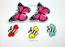 MIX5PCS Butterfly iron on Patches para la ropa for clothing applique embroidery parches Apparel Sticker Craft Sewing Accessories