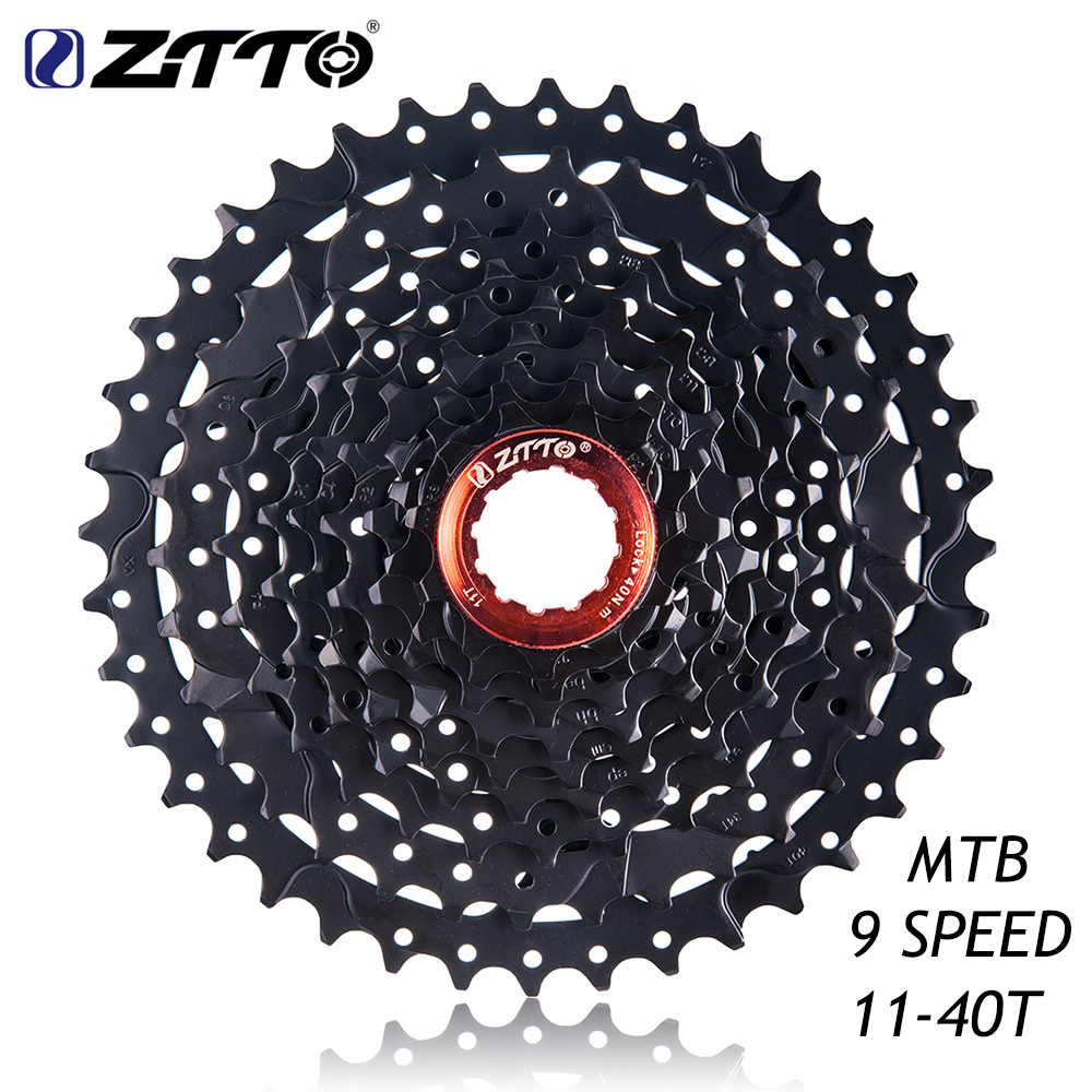 ZTTO MTB Mountain Bike Bicycle Parts 9s 27s Speed Freewheel Cassette 11-40T WIDE RATIO Compatible for Shimano M430 M4000 M3000 <br>