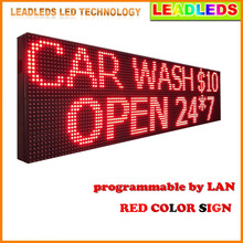 76inch 24h P10 Outdoor waterproof Programmable LED SIGN RED Color Mobile and fixed advertising  Message led display Board