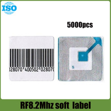 EAS barcode soft label retail store security label RF8.2Mhz checkpoint system compatible 5000 piece(China)