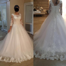 Bling Luxury African Wedding Gowns Square Neck Illusion Lace Cathedral Train Ball Gown China Wedding Dresses Bridal Dress