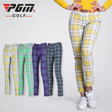 Women's High Quality PGM Golf Pants Lady England Style Pants Trousers Clothing Golf Ball Plaid Sports Leisure Soft Trousers(China)