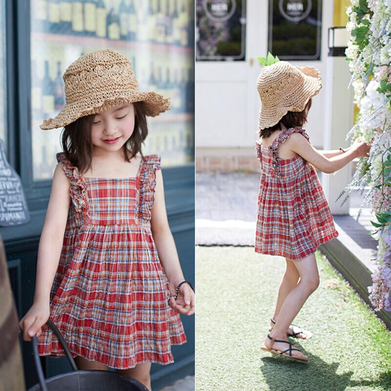 Summer new little girl dress Princess Dress cotton dress Korean children<br>