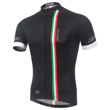 Italy Cycle Jersey Top Breathable MTB Mountain Bicycle Cycling Running Short Sleeve Jersey Outdoor Sportswear Polyester