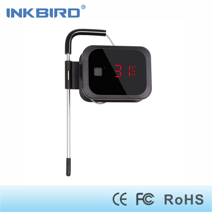 Inkbird IBT-2X digital bluetooth  thermometer cooking  for oven meat ,grilling,smoker,wireless kitchen food bbq with one sensor<br>