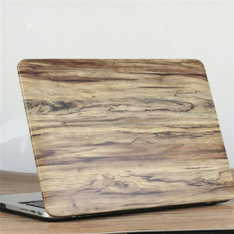 Wood Grain Laptop Bag Case for Macbook Air Pro Retina 11121315, PU Leather Notebook Computer Protective PC Cover<br><br>Aliexpress