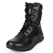 270302/Men's Genuine Leather Boots Man Military Motorcycle Boots Mid-Calf Martin Boot Male Winter Warm Shoes With(China)