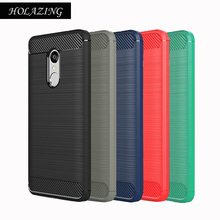 HOLAZING Glossy Spigen Rugged Soft Armor Case for Xiaomi Redmi Note 4X Shock Carbon Fiber Design Cover Redmi Note 4 Global