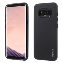 ROAR KOREA Phone Cases for Samsung Galaxy S8 S8+ RICO Matte Hybrid 2-in-1 PC + TPU Back Casing Cover for Galaxy S8 - Black(China)