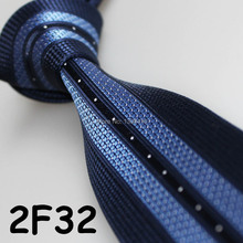 Cheap Sell ! 2017 Latest Style Fashion/Business Stripe Dual Front  Navy Blue/Light Blue/White ties for mens stage/Narrow tie set