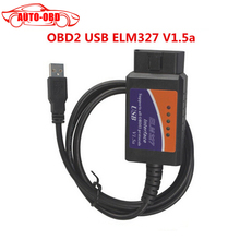 ELM327 ELM 327 V 1.5a USB OBD2 Diagnostic Interface tool Auto Code Scanner OBDII Supports All OBD2 Protocols