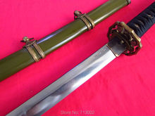 Handmade Military Japanese Sword Army Katana Officer Folded Steel Blade Metal Saya