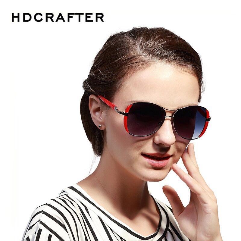 HDCRAFTER Brand Retro Womens Sun glasses Polarized Ladies Designer Sunglasses Eyewear Accessories For Women <br><br>Aliexpress