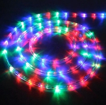 AC220V 20leds/m IP67 waterproof rgb led strip Christmas Decoration Lights Rainbow tube Rope outdoor with 8 Mode Flash Controller(China)