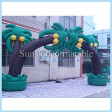 8m large oxford inflatable coconut palm arch palm tree arch inflatable entrance arch/archway for wedding/party/events
