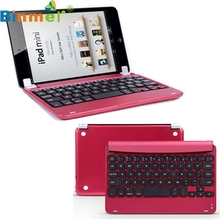 Binmer Mecal Aluminum Wireless Bluetooth Keyboard Case Smart Cover For Apple for iPad Mini