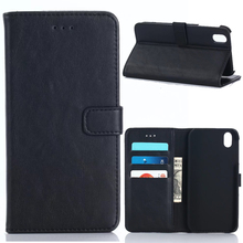 30pcs/lot 3 Card Slots Book Style Vintage Crazy Horse Leather Case with Stand For Sharp Android One X1 SHV40(Hong Kong)