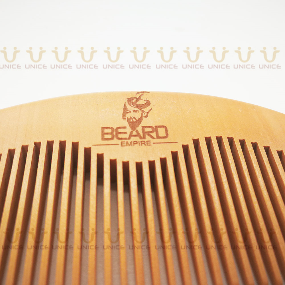 100pcs/lot Your LOGO Customized Private Label Combs Hair Beard Wood Comb for Men & Women for Barber Shop Retail Case 51