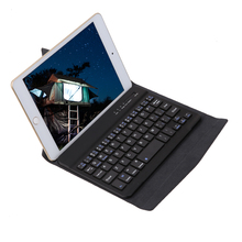 "Bluetooth Wireless Keyboard with Magnetically olds Leather Case Cover For 7"" 8"" ipad mini Tablet Bluetooth Keypad Case(China)"