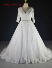 Buy 2017 New Design half sleeve lace plus size Wedding Dresses vestidos de novia Bridal gown custom made factory directly for $248.00 in AliExpress store