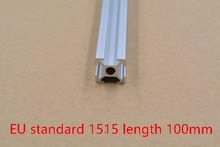 1515 aluminum extrusion profile european standard white length 100mm industrial aluminum profile workbench 1pcs