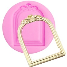 European Vintage Mirror Frame Silicone Molds  Chocolate Cupcake Fondant Cake Decorating Tools Fimo Clay Candy Moulds XL152