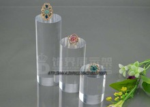 Free shipping 3pcs/lot High-end jewelry imported crystal cylindrical ring seat frame necklace jewelry display stand rack props(China)