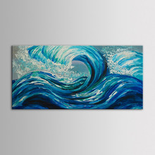 IARTS Sea Wave Oil Painting Handmade Painting Unstretchered/Unframed In Stock Fast Delivery Time
