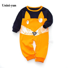 New 2016 cute baby rompers jumpsuit comfortable clothing for new born babies 0-18m baby wear newborn baby clothing Dot Romper(China)