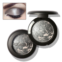 FOCALLURE Metallic Eyeshadow Make Up Glitter Eye Shadow Cosmetics Powder Minerals Single Eyes Palette
