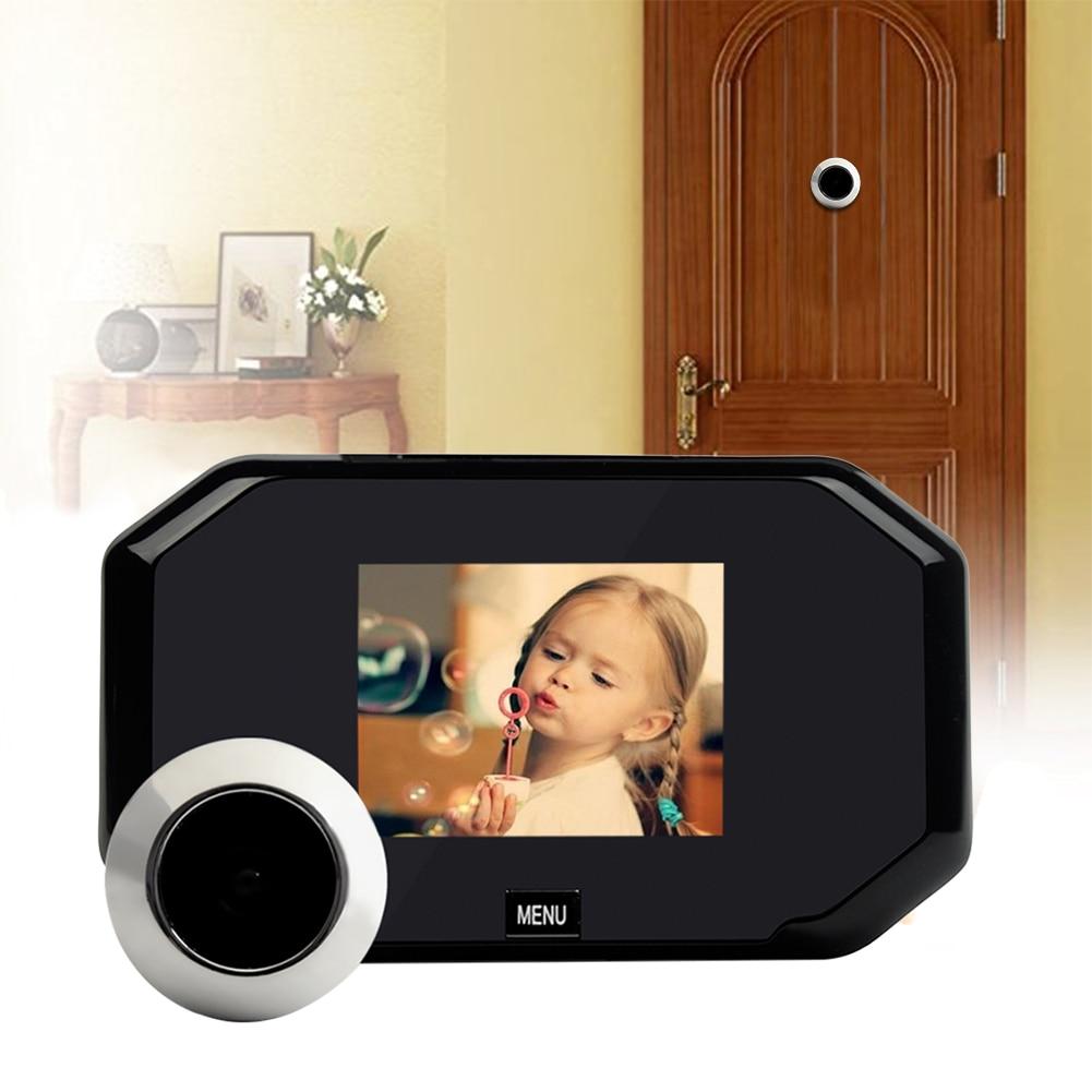 3.0 inch Color Screen Doorbell Viewer Digital Door Peephole Viewer Hidden Cats Eye Head Security Camera Wide Angle120 Degrees<br>