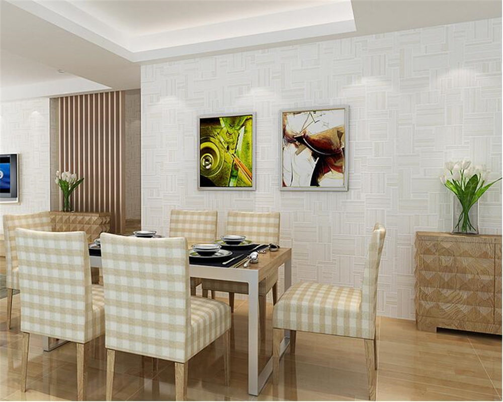 beibehang Warm beige hotel hotel decoration wall paper geometric nonwoven bedroom living room restaurant elegant 3d wallpaper<br>